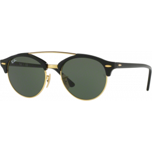 Ray-Ban RB4346 Clubround Double Bridge Shiny Black G-15