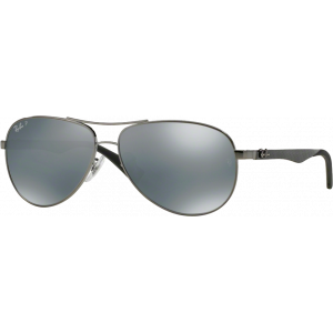 Ray-Ban RB8313 Medium Gunmetal Blue Mirror Silver Polarized