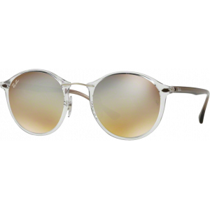 Ray-Ban Round Light Ray Transparent Silver Gradient Flash