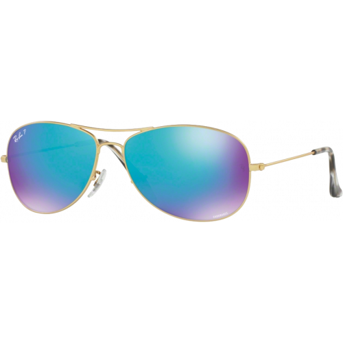 Ray-Ban RB3562 Chromance Doré Mat Bleu Flash Polarisé