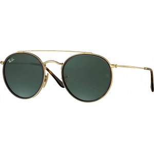 Ray-Ban Round Double Bridge Doré Vert