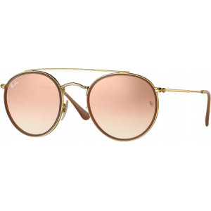 Ray-Ban Round Double Bridge Gold Copper Flash Gradient