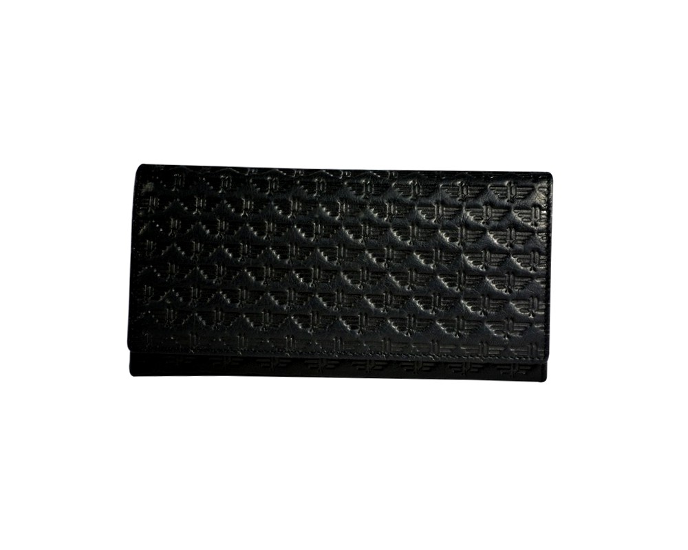 POLICE LEATHER Mod.PYRAMID - Portafoglio/Wallet - Nero.Marrone/ Black. Brown BIPihcEG